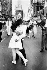 Stampa su tela  V-J Day a Times Square - Celebrity Collection