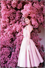 Stampa su plexi-alluminio  Audrey Hepburn in abito da sera - Celebrity Collection