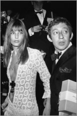 Stampa su legno  Jane Birkin e Serge Gainsbourg - Celebrity Collection