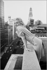 Stampa su alluminio  Marilyn Monroe a New York - Celebrity Collection