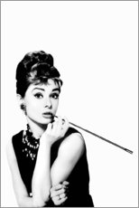 Stampa su tela  Audrey che fuma - Celebrity Collection