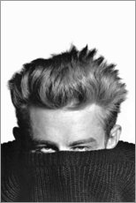 Stampa su vetro acrilico  James Dean si nasconde - Celebrity Collection