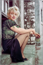 Stampa su vetro acrilico  Marilyn Monroe in pausa - Celebrity Collection