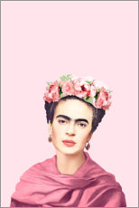 Stampa su plexi-alluminio  Omaggio a Frida - Celebrity Collection