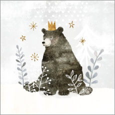Poster Premium King Bear nell'estremo nord