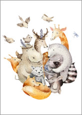 Poster Premium  Amici animali - Kidz Collection