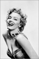 Stampa su tela  Il sorriso di Marilyn Monroe - Celebrity Collection