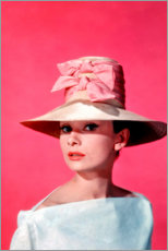 Poster Premium  Audrey Hepburn - rosa - Celebrity Collection