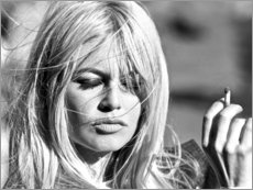 Stampa su vetro acrilico  Brigitte Bardot al vento - Celebrity Collection
