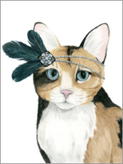 Stampa su plexi-alluminio  Cat of Downton I - Grace Popp