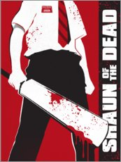 Adesivi murali  Shaun of the dead - Golden Planet Prints