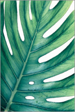 Stampa su tela  MONSTERA VERDE - Art Couture