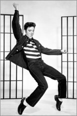 Stampa su alluminio  Elvis Presley che balla II - Celebrity Collection