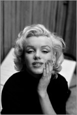 Stampa su tela  Lo sguardo sognante di Marilyn Monroe - Celebrity Collection