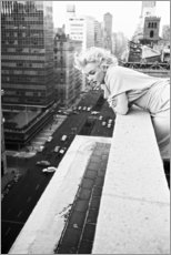 Stampa su legno  Marilyn Monroe a New York - Celebrity Collection