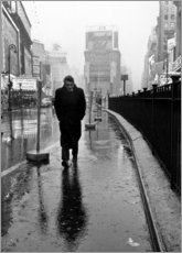 Poster Premium  James Dean a Times Square - Celebrity Collection