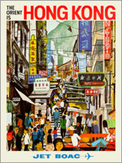 Poster Premium  Hong Kong - Jet BOAC - Travel Collection