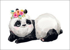 Poster Premium  Panda principessa - Kidz Collection