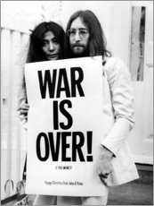 Adesivo murale  Yoko & John - War is over!