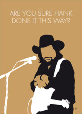 Poster Premium Waylon Jennings - Are You Sure Hank Done It This Way?