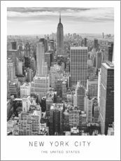 Poster Premium  New York City - Art Couture