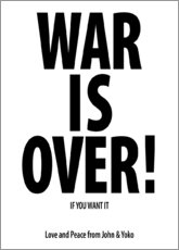 Stampa su plexi-alluminio  War is over!
