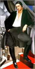 Stampa su legno  Portrait of the Duchess of La Salle 1925 - Tamara de Lempicka