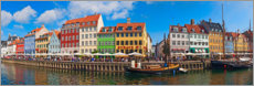 Poster Premium  Canal Panorama Nyhavn I