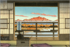 Adesivo murale  Mattina all'Hot Spring Resort di Arayu - Kawase Hasui