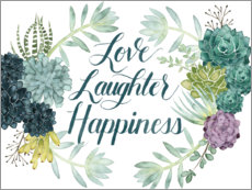 Poster Premium  Love laugh happiness (inglese) - Grace Popp