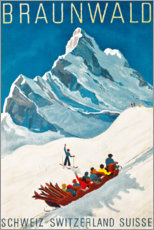 Poster Premium  Braunwald - Travel Collection