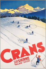 Stampa su tela  Crans-Montana (francese) - Travel Collection