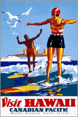 Poster Premium  Visita Hawaii (inglese) - Travel Collection