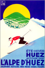 Poster Premium  L'Alpe d'Huez (francese) - Travel Collection