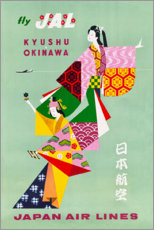 Adesivo murale  Japan Air Lines - Travel Collection