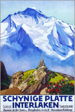 Poster Premium  Interlaken (francese) - Travel Collection