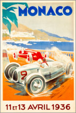 Stampa su alluminio  Gran Premio di Monaco 1936 (francese) - Travel Collection