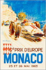 Stampa su alluminio  Gran Premio di Monaco 1963 (francese) - Travel Collection