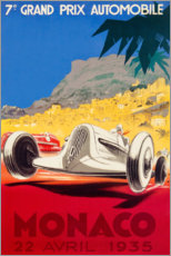 Poster Premium  Gran Premio di Monaco 1935 (francese) - Travel Collection