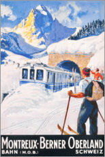 Poster Premium  Montreux, Berner Oberland - Travel Collection
