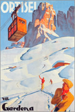 Poster Premium  Ortisei - Val Gardena - Travel Collection