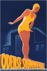 Poster Premium  Odense piscina (svedese) - Travel Collection