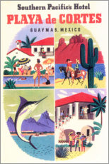 Poster Premium  Playa de Cortes (inglese) - Travel Collection