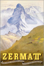 Stampa su legno  Zermatt - Travel Collection