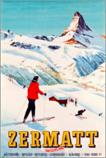 Stampa su alluminio  Zermatt - Travel Collection