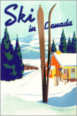Poster Premium  Sci in Canada (inglese) - Travel Collection