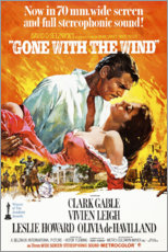 Poster Premium Gone with the wind (Via col vento)