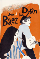 Poster Premium  Concerto di Bob Dylan e Joan Baez (inglese) - Entertainment Collection