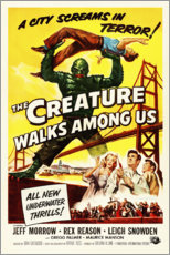 Poster Premium  The Creature Walks Among Us - Entertainment Collection