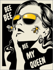 Poster Premium Bee my queen